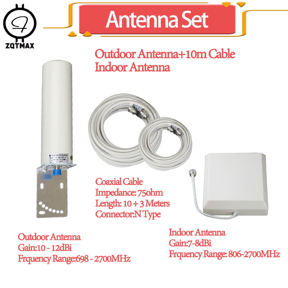ZQTMAX 12dBi <font><b>antenna</b></font> for 850 <font><b>900</b></font> 1800 2100 2600 <font><b>mhz</b></font> 2g 3G 4g mobile signal booster gsm repeater lte umts internet amplifier image
