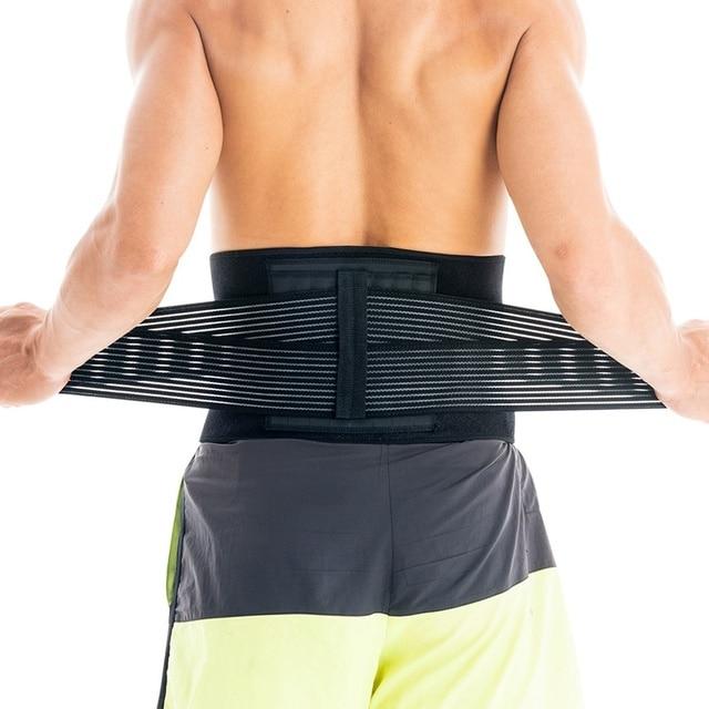 1pcs Men Adjustable Trainer Waist Support Fitness Belt Sport Protection Back Absorb Sweat Fitness Sport Protective Gear 3