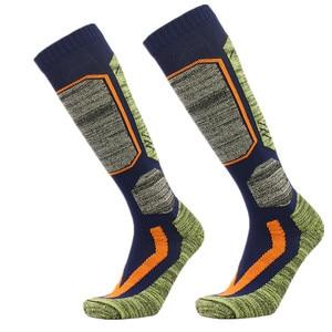Image 1 - High Quality Cotton Thick Cushion Knee High Ski Socks Winter Sports Snowboarding Skiing Socks Warm Thermal socks