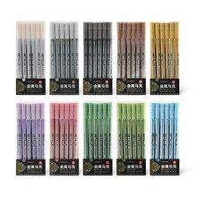 Художественные металлические цветные нарисованные вручную маркерные ручки с японской импортной ручкой художественные маркерные ручки дл...