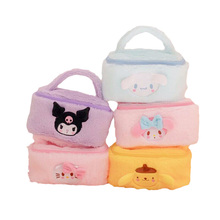 20Cm Sanrioed Plushie Toys My Melody Pom Pom Purin Cinnamoroll Kuromi Anime Characters Plush Toys Storage Bag and Pencil Case