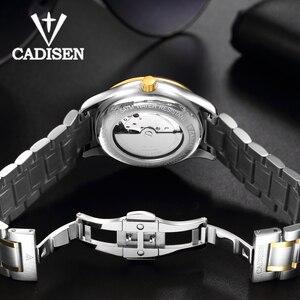 Image 5 - CADISEN 2019 męska mechaniczne zegarki luksusowe marki automatyczne mechaniczne zegarki wojskowy biznes wodoodporny kalendarz Manly