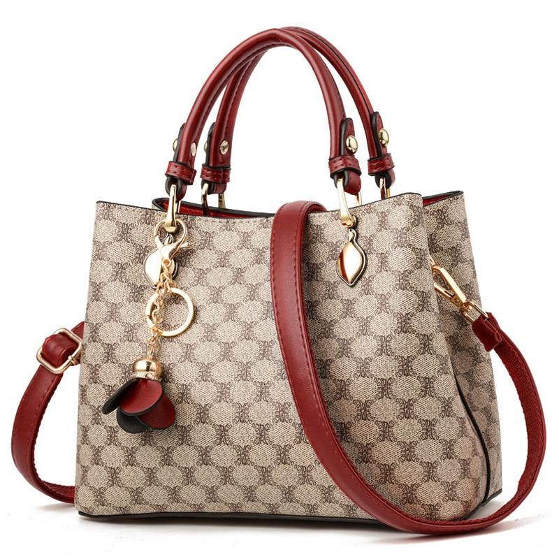 2019 Luxury Disigner Handbag Women Leather Handbags Tassel Female Shoulder Bag Print Large Totes Bags For Women New Bolsas Sac