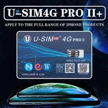 Cartão sim para desbloqueio U-SIM4G pro ii, nano-sim compatível com ios 12 iphone xs max