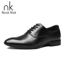 Men Pointed Toe Dress Shoes Mens Genuine Leather Black Wedding Shoes Oxford Formal Shoes High Quality Derby Shoes for Men недорого