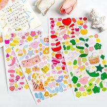 Mohamm 1Pcs Heteromorphism Farbige Band Dazzling Farben Aufkleber Dekoration Scrapbooking Papier Kreative Stationäre Schule Sup