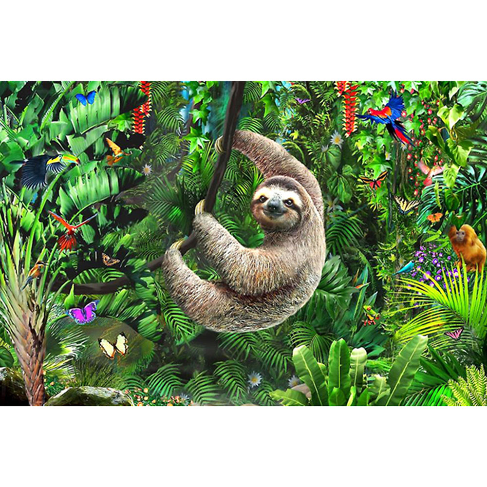 DIY 5D cartoon Diamond Painting accessories Animal sloth Embroidery Handmade Gift Mosaic Art Full Drill cross stitch Home Decor-0