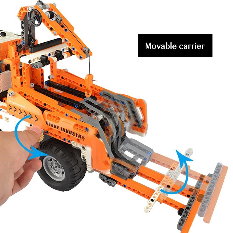Cada C51013 RC City Engineering Truck Car 2 IN 1 Building Blocks