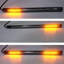 Flexible Led Lights Strip Rubber low power Motorcycle Turn Steering Brake Lamp Bulb Signal Light