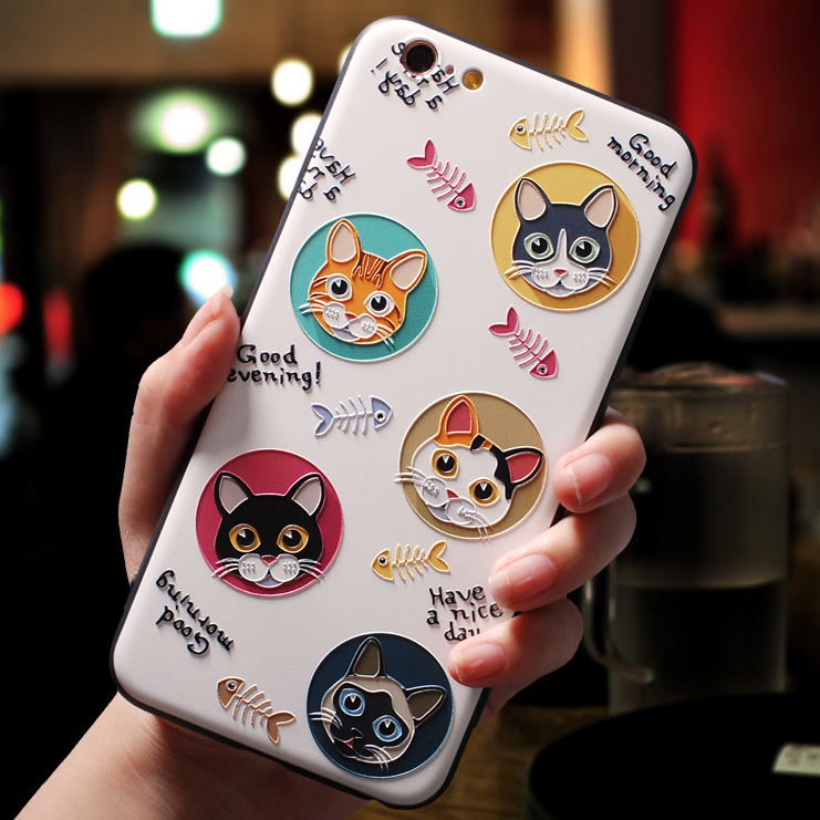 3D Emboss TPU Cases For Samsung Galaxy A50 A40 A70 A30 A10 A60 S8 S9 S10 S6 S7 Edge A9 A8 A6 Plus A7 2018 A5 2017 Note 8 9 Case