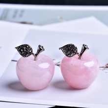 1pcs Natural Crystal Rose Quartz Apple Gemstone and Mineral Home Furnishing Christmas Eve Wedding Decoration Gifts