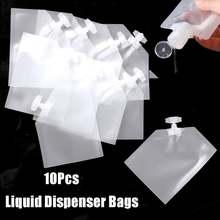 10 шт прозрачные многоразовые герметичные мешочки косметические