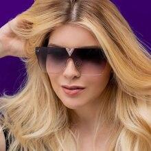 Qpeclou 2021 Роскошные безободковые солнцезащитные очки с v