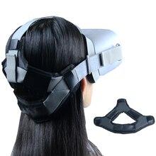Antypoślizgowy kask VR głowa odciążający nacisk pasek piankowa podkładka do Oculus GO/Quest 2 zestaw do wirtualnej rzeczywistości poduszka z pałąkiem na głowę akcesoria do mocowania