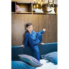 yazan Pajamas Spring Autumn Long Sleeve Children's Sleepwear Cotton yarn Pajamas Suit Boys Pyjamas Sets for Kids Tracksuit set