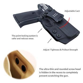 B.B.F Make IWB Kydex Gun Holster for Ruger SR9 / SR9C / SR40 / SR40C Pistol - Inside Waistband Concealed Carry Case 4