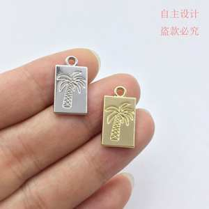 Eruifa Palm-Tree Bracelet Jewelry Earring Necklace Charms Handmade DIY Wholesales Zinc-Alloy