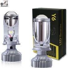 2 шт/компл h4 9003 Ближний/дальний светодиодный мини проектор