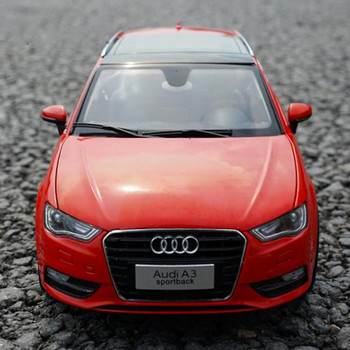 Best Christmas Gift of Alloy 1/18 Scale Audi A3 Sportback Red DieCast Classic Car Model with Fast Delivery image