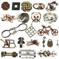 Intelligente IQ Test Lock Gehirn Tester Legierung Metall Puzzles Spiele Kinder Erwachsene Intelligente Spielzeug Für Kind Talent Pädagogisches Spielzeug