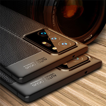 Soft Silicone Leather Texture Case For Samsung Note 20 Ultra Note 10 Note 9 8 A30 A31 A50 A51 A70 A71 A21S M31 M31S Cover Case image
