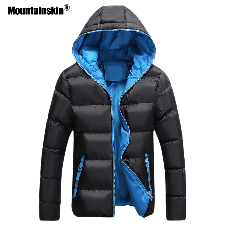Mountainskin 5XL Men Winter Casual New Hooded Thick Padded Jacket Zipper Slim Men And Women Coats Men Parka Outwear Warm EDA020