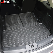 JHO Car Rear Cargo Boot Liner Trunk Floor Mat Carpet Tray For Ford Explorer 2020 2021 Limited Platinum XLT Interior Accessories