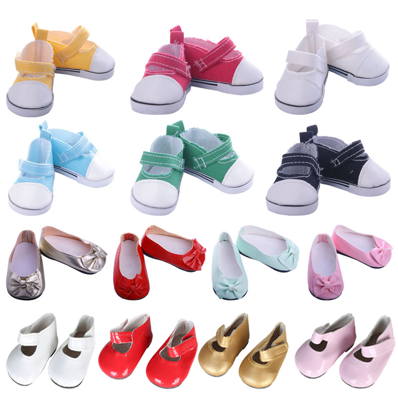Doll Shoes Various Styles Of Canvas Shoes For 18 Inch American Doll & 43 Cm Born Doll Accessories Best Gifts For Generation