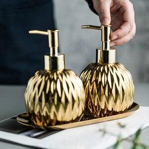 400ml Soap Dispenser Gold Silv