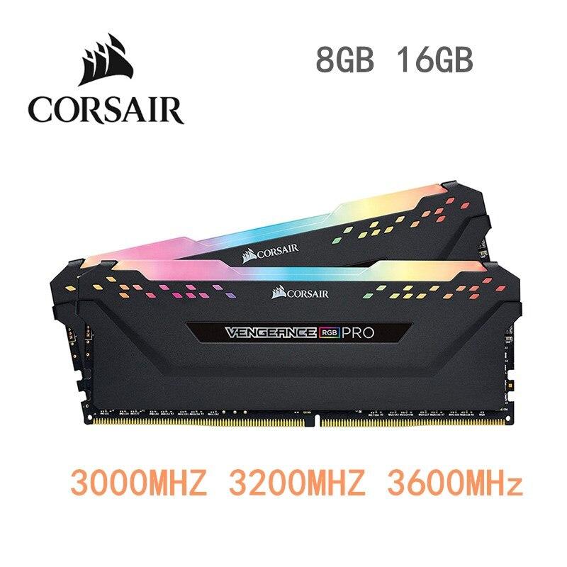 CORSAIR DDR4 RGB PRO RAM 8GB 16GB 32GB Original Memory PC4 3000Mhz 3200Mhz 3600Mzh DIMM Memoria Module for PC