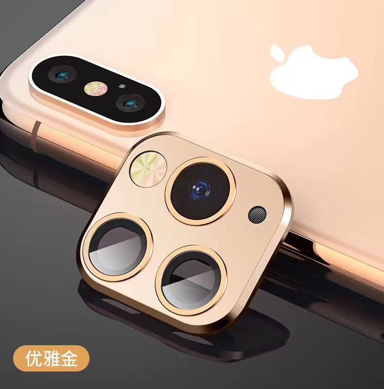 Metal Alumium Camera Lens Case Seconds Change For iPhone 11 11Pro MAX For iPhone XXS XR MAX Ring Sticker Protective Cover