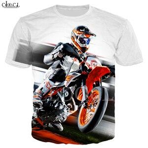 Image 2 - זרוק משלוח אופנה מוטוקרוס T חולצה גברים של נשים של 3D הדפסת מכונית ספורט קצר שרוול היפ הופ זוג ללבוש אסיה גודל S 5XL חולצות