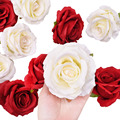 Высота каблука 10 см Шелковая Красная роза искусственный цветок голова искусственные цветы для дома Свадьба День святого Валентина украшен...