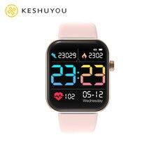 I8 модные 1,4 дюймов Смарт-часы для мужчин полный сенсорный режим для нескольких видов спорта с смарт-часы для женщин монитор сердечного ритма...