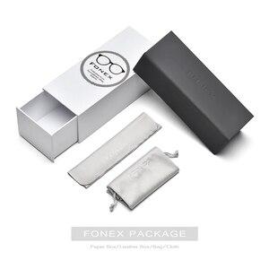 Image 5 - Fonex 순수 베타티타늄 아세테이트 편광 선글라스 2019 신품 브랜드 디자인 빈티지 스퀘어 아이웨어 남녀공용 T839