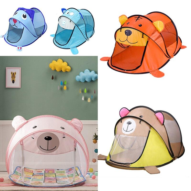 Портативная детская палатка с рисунком вигвам для детей, Детский игровой домик на открытом воздухе, большая палатка, всплывающие игрушки, к...