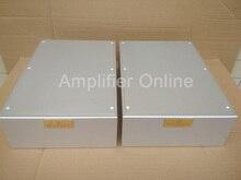 2PCS Silver All Aluminum Power Amplifier Chassis DIY Amplifier Case Enclosure Size 216*90*308mm AP54