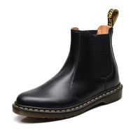 Women boots shoes Large Size 35 46 Men Genuine Leather Boots Fashion Black Snow Boots Slip on Waterproof Ankle Boots Lovers