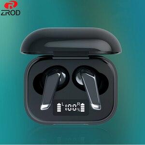 TWS Беспроводные Bluetooth 5,0 наушники светодиодный дисплей сенсорное управление беспроводные наушники шумоподавление стерео наушники гарнитур...