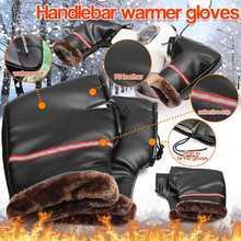 Motorcycle Handlebar Gloves Mitten Scooter Hand Muff Warmer Winter Waterproof Handlebar Grip Muff Riding Guantes