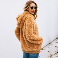 2019 Women Autumn Winter Hooded Faux Fur Shaggy Fluffy Pullover Casual Long Sleeve Drawstring Hoodies Sweatshirt Outwear With Fr