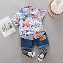 1-4Years Infant Baby Jungen Kleidung Set Cartoon T-shirt Tops + Shorts Sommer Outfits babys Sets gentleman Hosen Outfits Set tuch