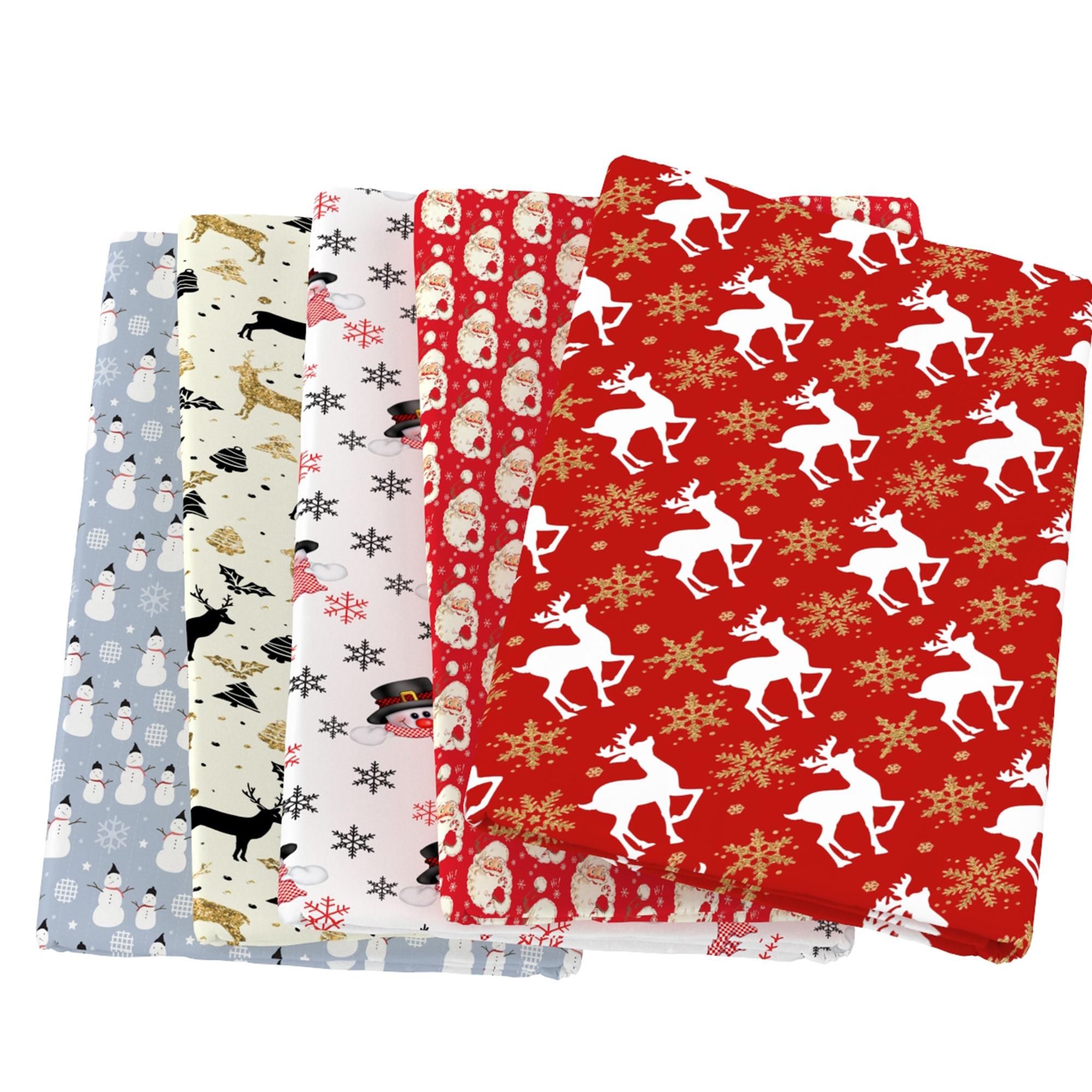 С Новым Годом Рождественская елка олень 100% хлопчатобумажная ткань для тканей детский домашний текстиль шитье квилтинг для шитья кукла тиль...