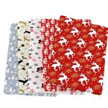 Feliz ano novo árvore de natal veados 100% tecido de algodão para tecido crianças casa têxtil costura estofando para costurar tilda boneca, c13785