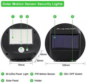 Image 3 - Solar Power PIR Motion Sensor Wall Light Outdoor Waterproof Energy Saving Street Yard Path Home Garden Security Lamp 30 LEDs