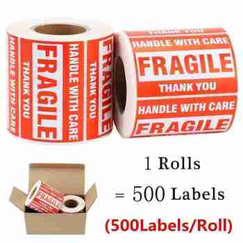 3x2Inch/500pcsHandle With Care Fragile Thank YouWarning Stickers Fragiles caution warning packaging transportation Seal Labels contains generic medical cannabis warning labels keep out of reach of children 1 5 round adhesive warning stickers 500pcs