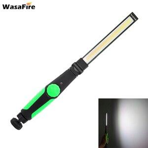 Image 1 - 5pcs/lot Magnetic Led Light USB Rechargeable COB Torch Multifunction Flashlight Work Lamp COB LED Hand Light For Car Repairing