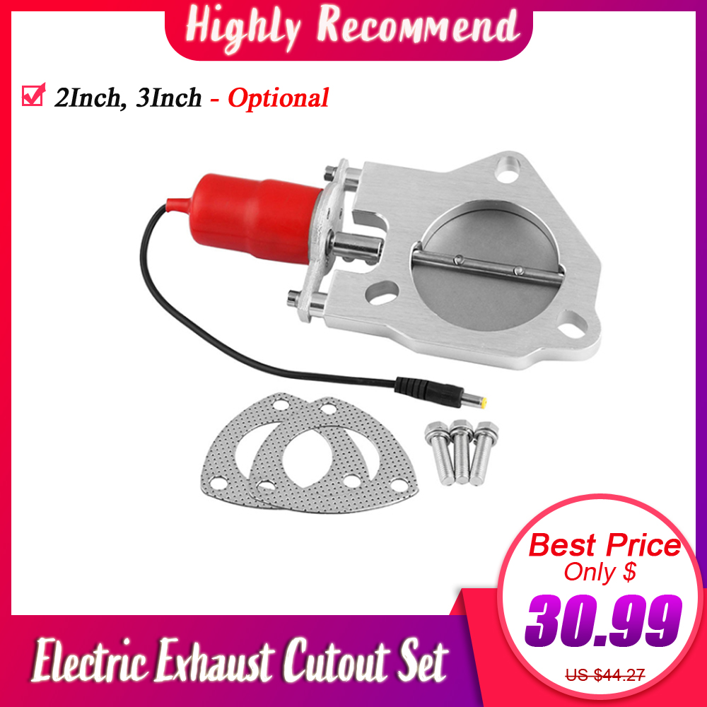 Car Racing Electric Exhaust Cutout Remote Valve 2.5 / 3 Inch Cut Out Control Motor Kit Stainless Steel Auto Accessories