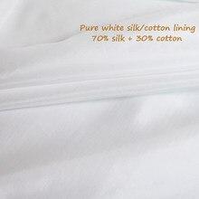Tissu en soie naturelle/coton, 100cm x 140cm, matière en soie blanche pure pour doublure de robe