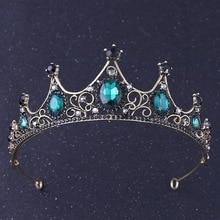 Fashion Vintage Small Baroque Silver Crystal Tiaras Crowns for Women Girls Bride Headpieces Veil Tiara Wedding Hair Accessories